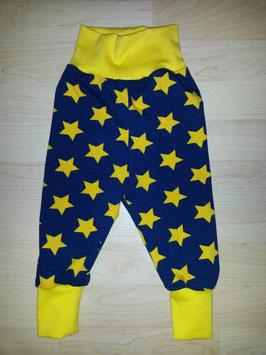 Hose Blau, Sterne Gelb