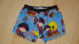 Boxershorts Blau, Piraten Krebs