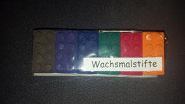 Wachsmalstifte Bausteine 6er Set Braun