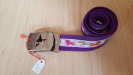 Kindergurt Violettes Einhorn 65cm