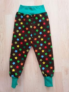 Hose Braun, Sterne Farbig