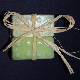 Seife Baustein, 4 Stück Grün, Gelb