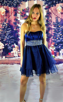 Blue Stones Prom Party Dress