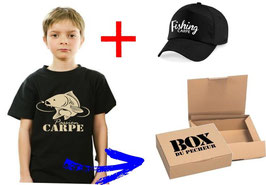 BOITE cadeau jeune pêcheur de carpe