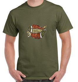 T-shirt pêche poissons Africain
