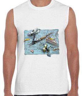T-shirt débardeur pêcheur street fishing