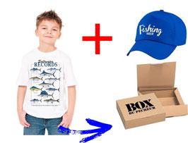 BOITE cadeau jeune pêcheur de poisson de mer