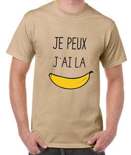 T-shirt pour un homme qui a la banane