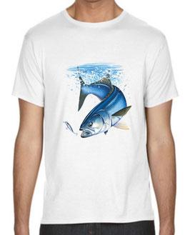 T-shirt pêcheur au bar de ligne