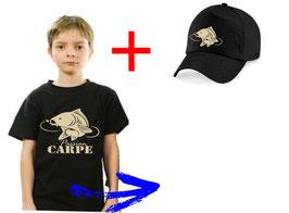 teeshirt et casquette enfant carpe