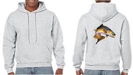 Sweat capuche pêche de la truite