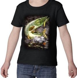 T-shirt garçon pêcheur de brochet
