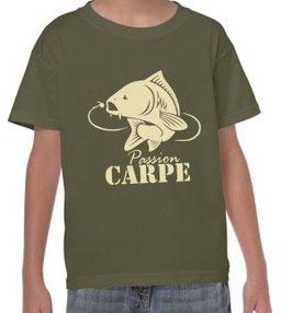 Tee-shirt pêcheur à la carpe