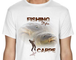 T-shirt fishing carpe