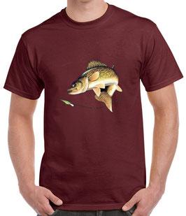 T-shirt pêche au sandre sauvage