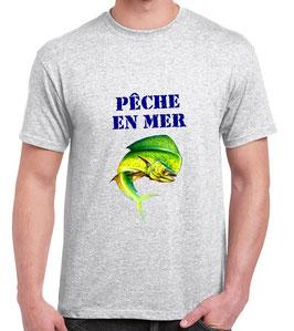 T-shirt pecheur de dorade coryphène