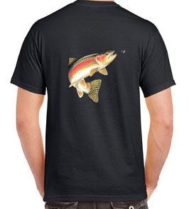t-shirt truite sauvage au toc