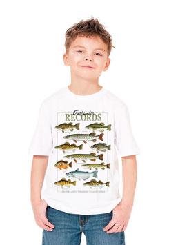 Tee-shirt enfant pêcheur poisson de lac