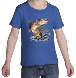 Tshirt petit pêcheur de truite fario
