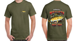 Tee-shirt pêcheur walleye