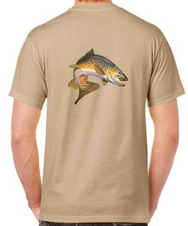 T-shirt papa pêcheur de truite
