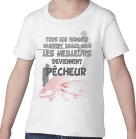 Tee-shirt garçon meilleur pêcheur