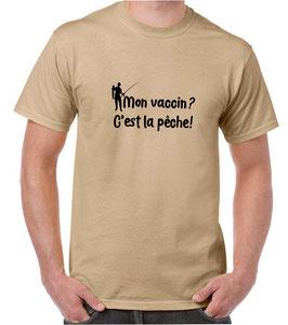 T-shirt mon vaccin c'est la pêche