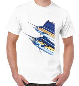 T-shirt peche aux gros en mer