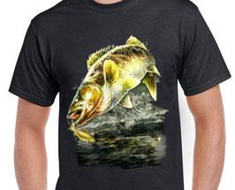 T-shirt pêche de la perche