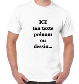 T-shirt vierge à personnalisé