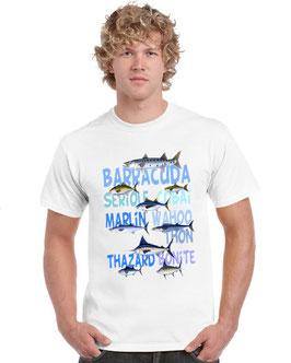 t-shirt pêche au poisson de mer