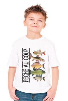 Tee-shirt jeune pêcheur au coup