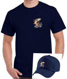 ensemble casquette et teeshirt pecheur de truite