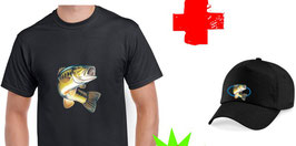Tshirt et casquette black bass