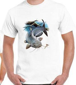 T-shirt pêche du silure