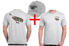 Promo teeshirt et casquette pecheur de carnassier