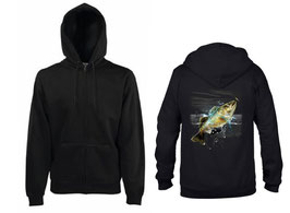 veste sweat pêcheur de black bass