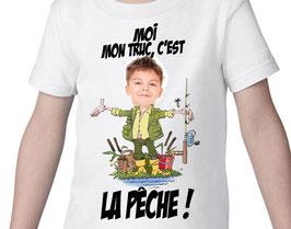 T-shirt garçon moi mon truc c'est la pêche