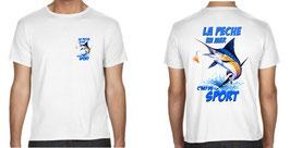 Tee-shirt pêche en mer c'est du sport