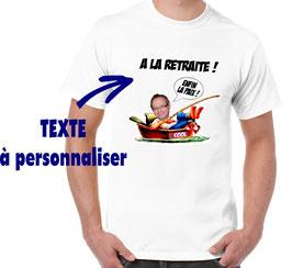 T-shirt pour une blague a un pecheur en barque