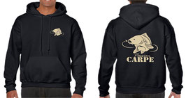 Sweat capuche pêcheur de carpe