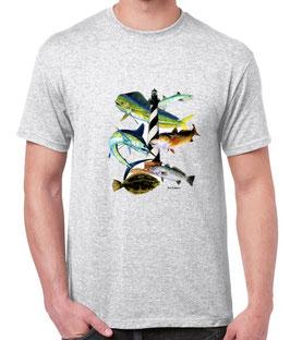 Tee-shirt pêche en mer du Nord