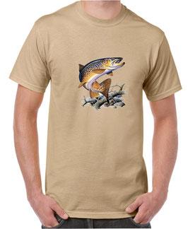 Tee-shirt pêche truite a la mouche