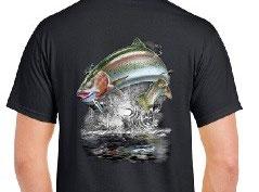 T-shirt pêche de la truite