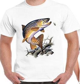 T-shirt La truite fario géante