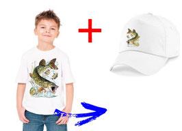 teeshirt et casquette enfant brochet
