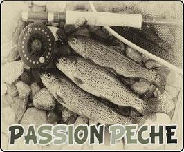 Tapis de souris pêcheur truite fario