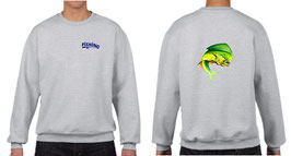 Sweat-shirt pêche dorade