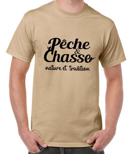 T-shirt pêche et chasse