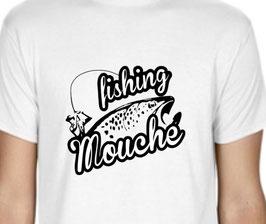 T-shirt fishing pêcheur à la mouche